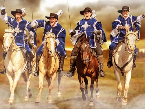 Поздравления маме, картинки мушкетеров на коне для детей